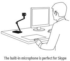 Ziggi HD je vhodná pro Skype, Gtalk, Lync,...